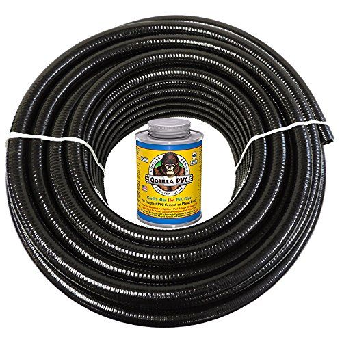 HydroMaxx 100 feet x 15 Inch Black Flexible PVC Pipe Hose ...