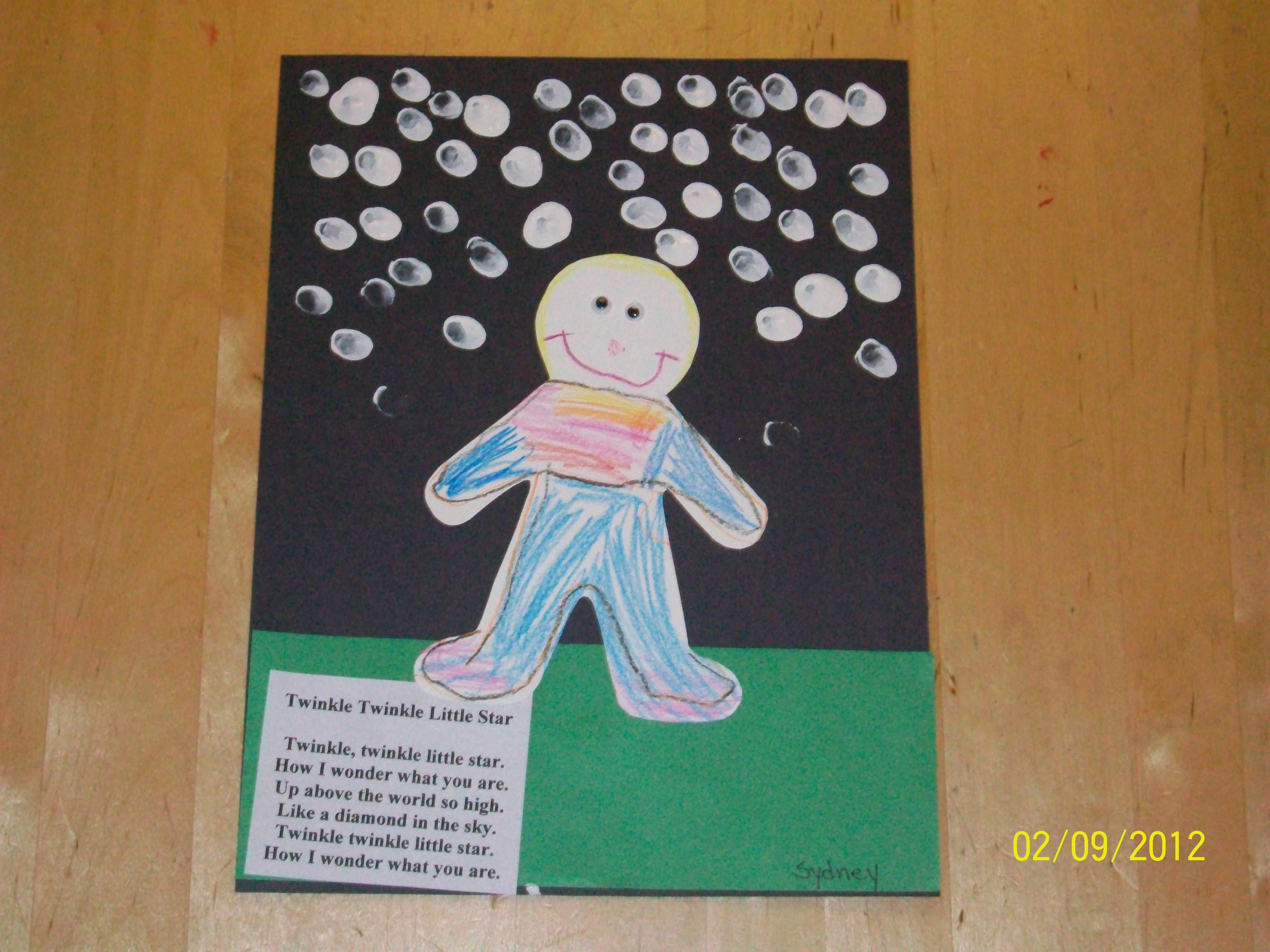 Twinkle Twinkle Nursery Rhyme Craft
