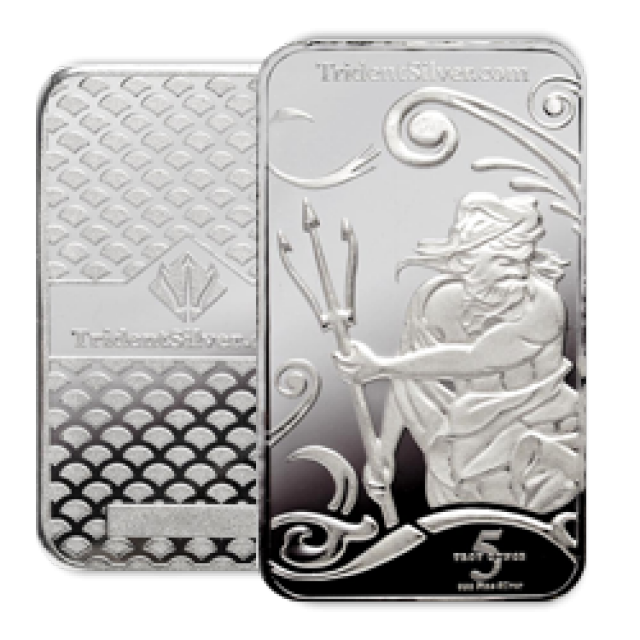 5 Ounce Ay Certified Trident Silver