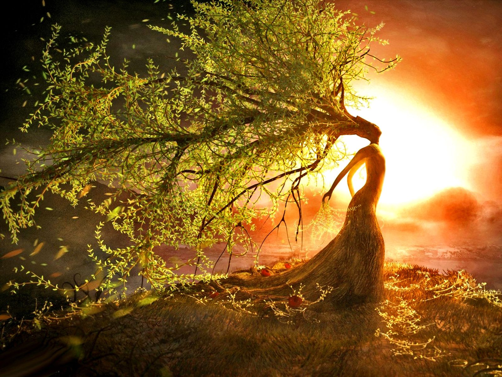 Goddess of tree art wallpapers hi Goddess of nature greek