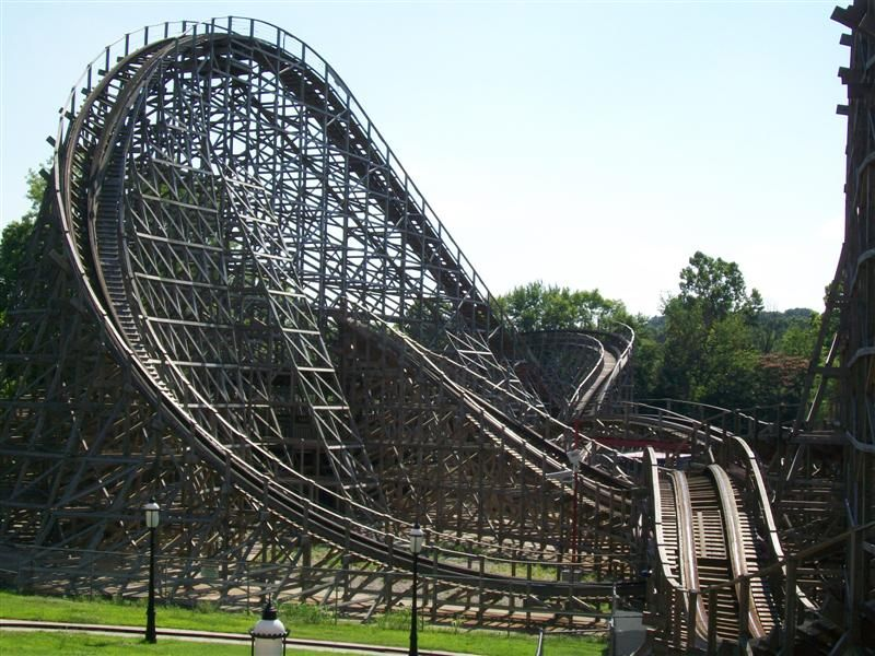 American Thunder At Six Flags St Louis Theme Parks Rides Roller Coaster Wooden Roller Coaster