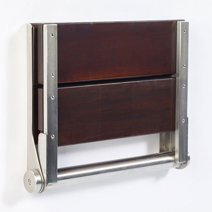 walnut shower seat wall mounted folding seat | Master Bathroom ...