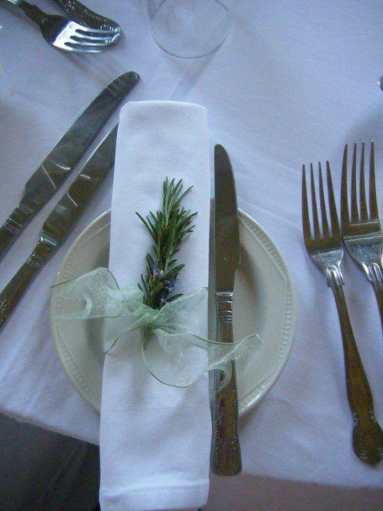 Rosemary on napkin