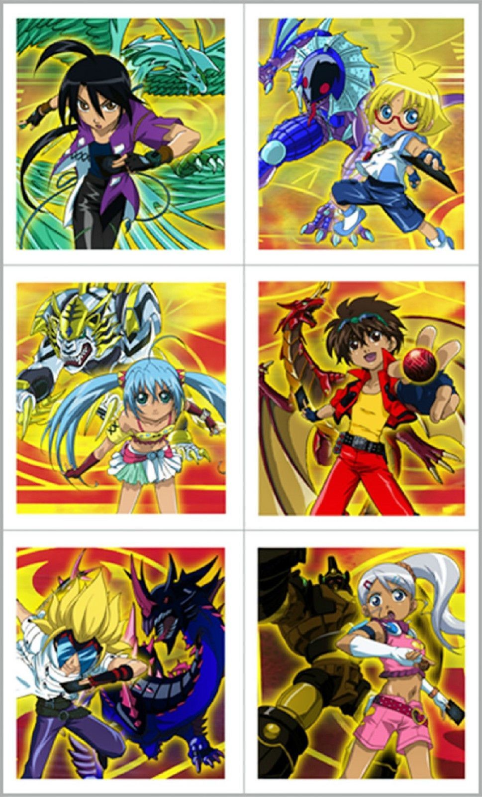 Bakugan Battle Brawlers Stickers Party Favors Crafts Anime