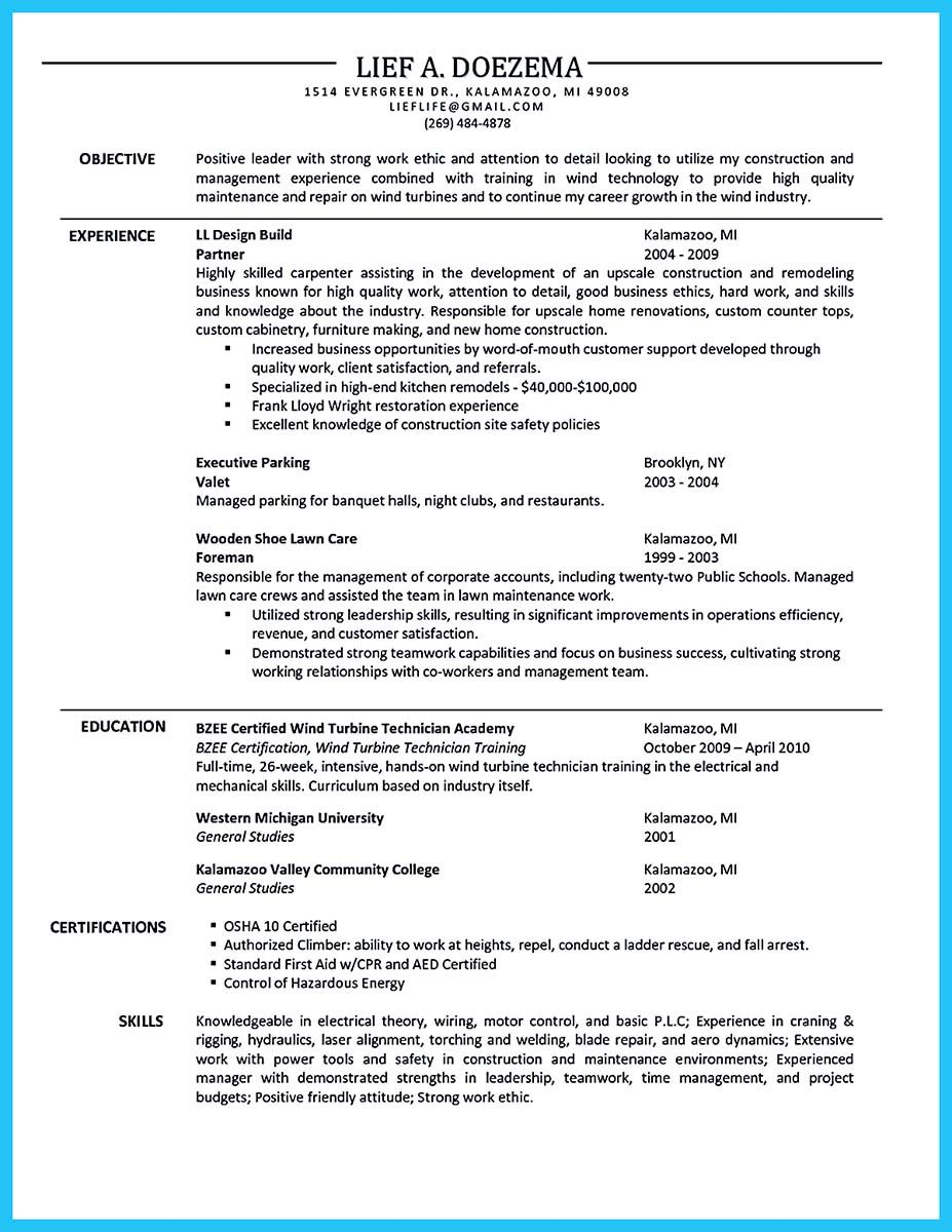 Awesome Tips You Wish You Knew To Make The Best Carpenter Resume