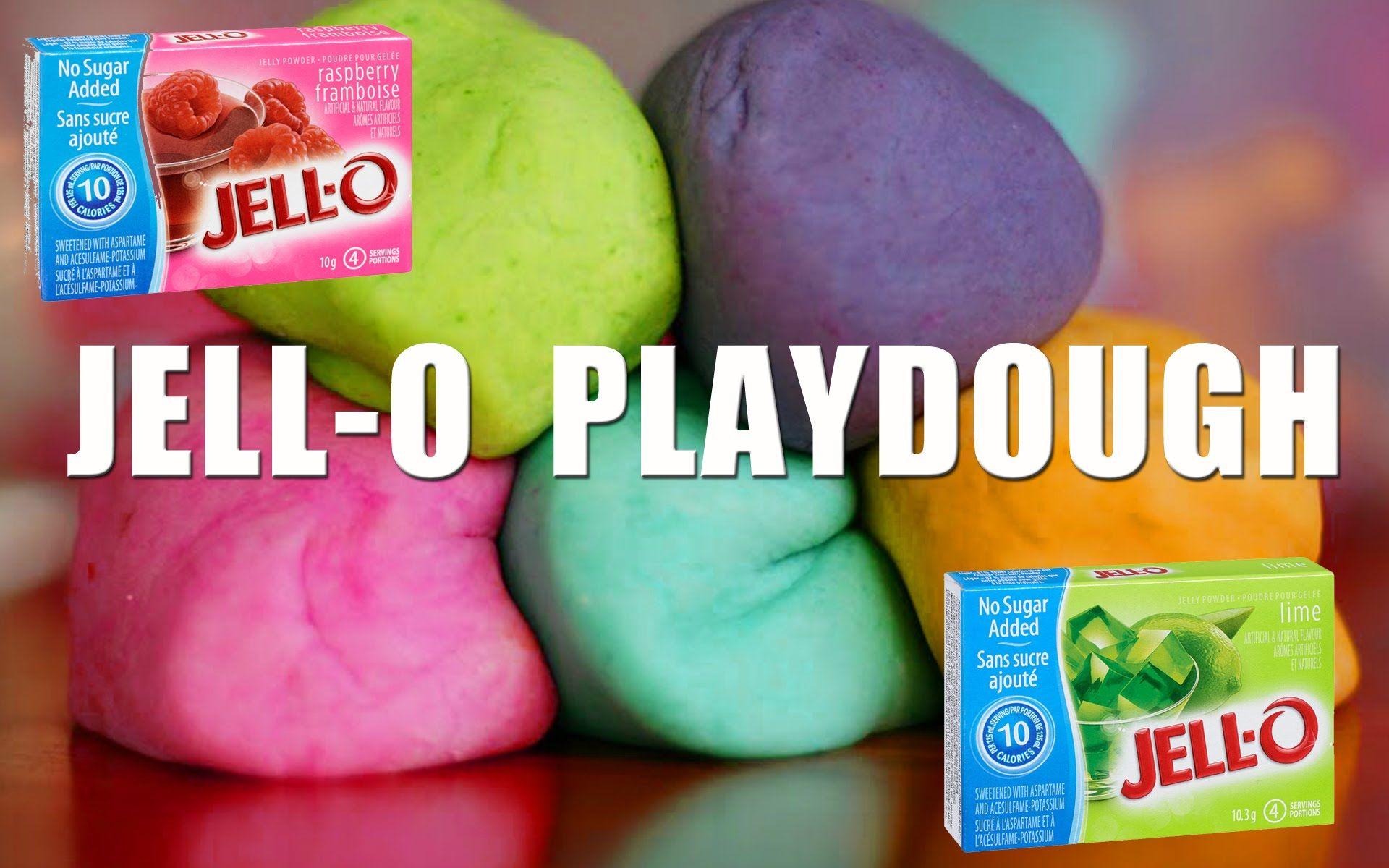 JellO Playdough flour, water, Jello, salt, Cream of