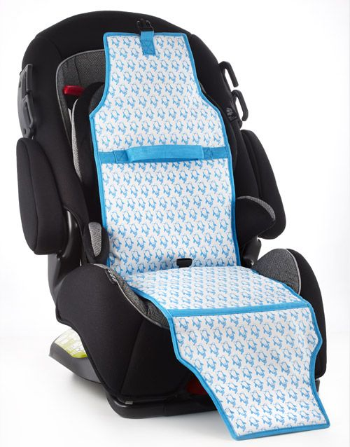 A Car Seat Cooler That Keeps Cool While In The Sun To Keep Kids
