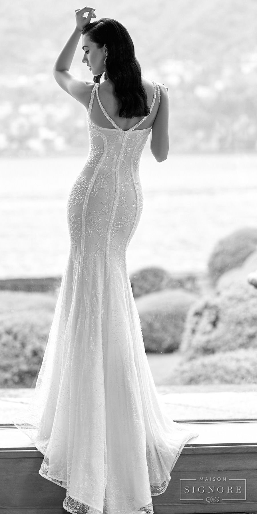 Simple wedding dresses for eloping  Maison Signore Exquisite Made in Italy Wedding Dresses u Now