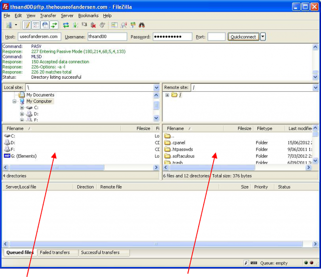 Uploading Files Using Ftp With Filezilla Directory Listing Cpanel Fun Easy