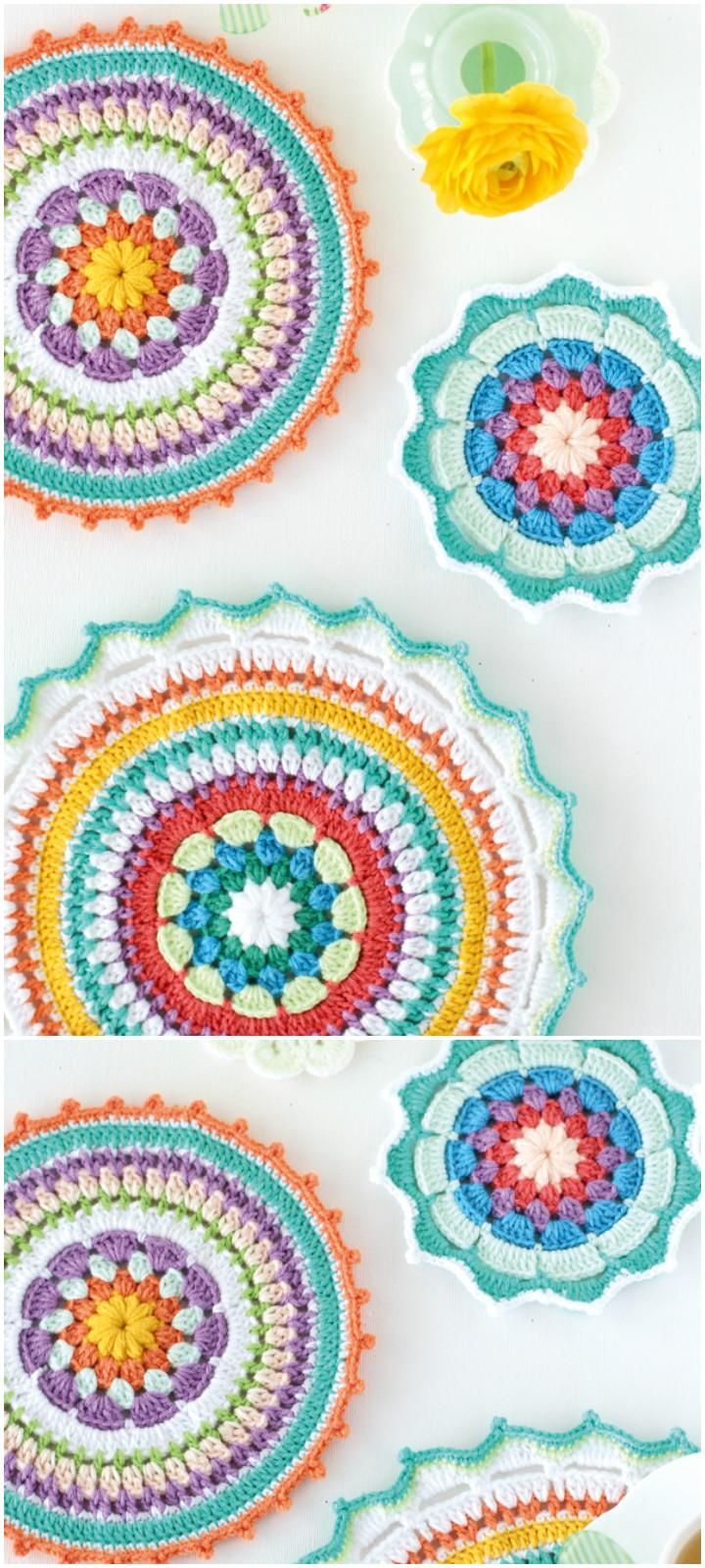 60+ Free Crochet Mandala Patterns - Page 4 of 12 | Topflappen ...