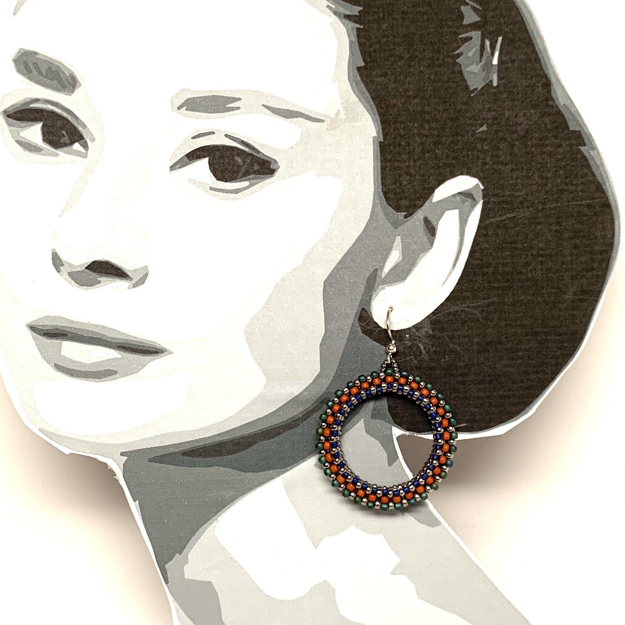 Perlen Hoffnung Ohrringe | Dunkles Gold