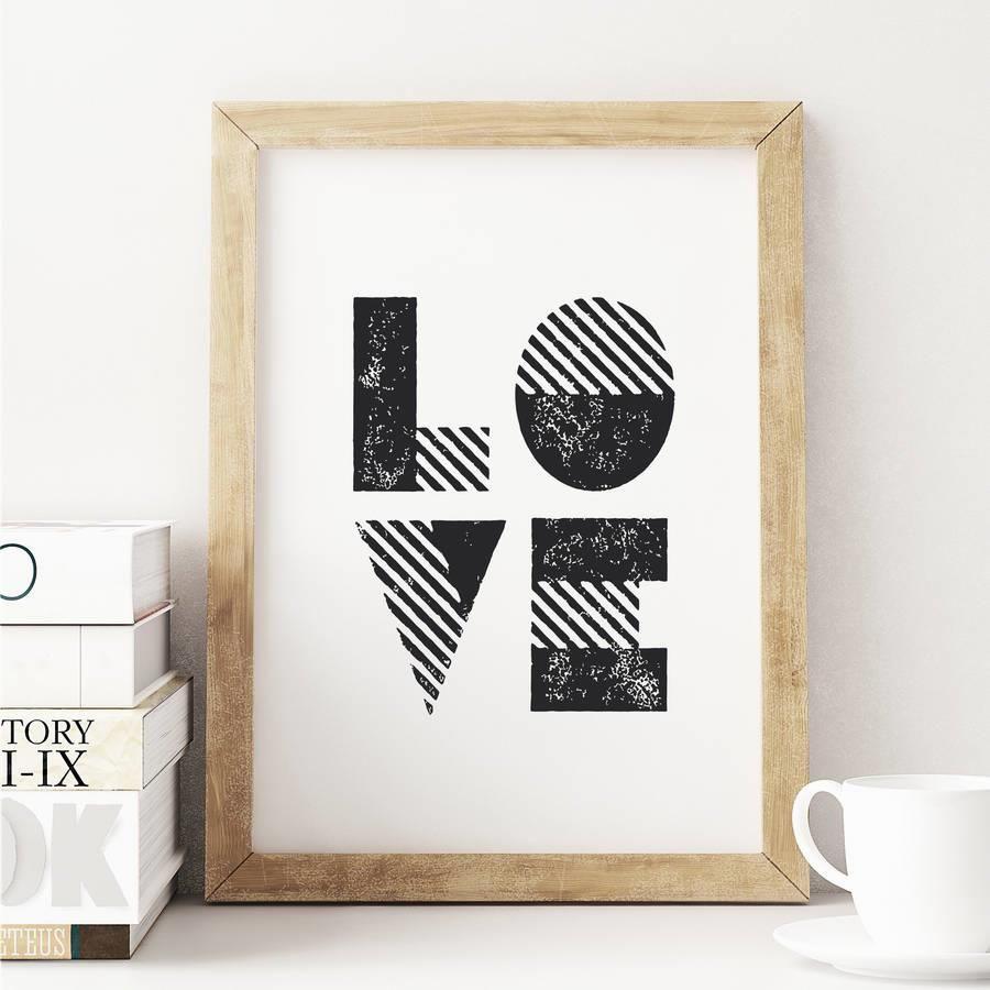 LOVE http://www.notonthehighstreet.com/themotivatedtype/product/love-print @notonthehighst #notonthehighstreet
