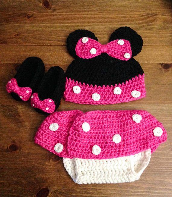 Minnie Mouse Diaper Cover Set Crochet Minnie Mouse Diaper Crochet