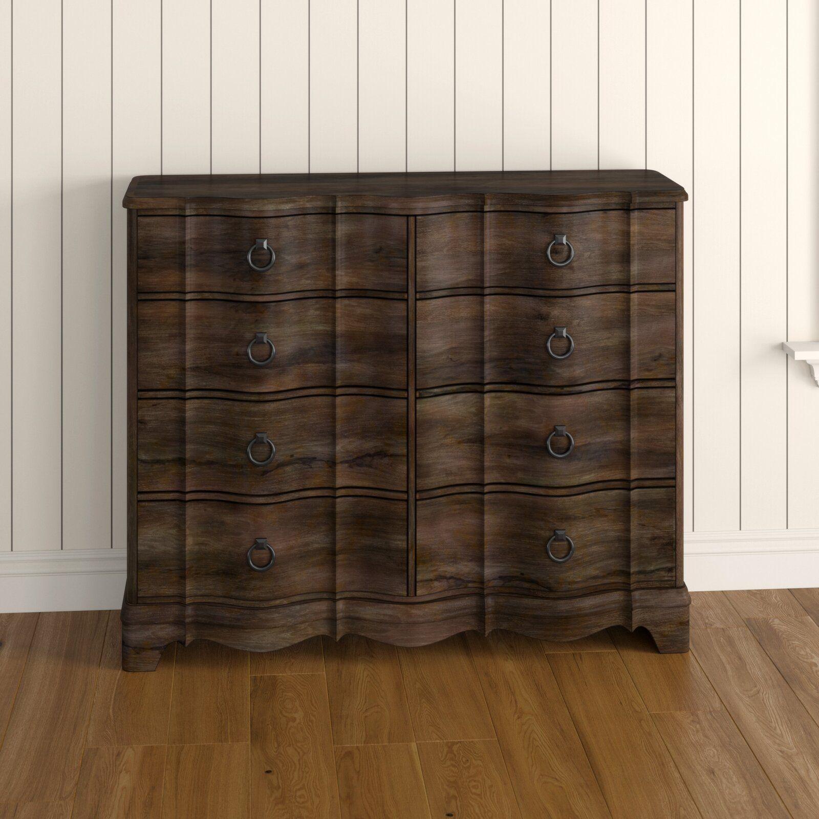 Best Kennard 8 Drawer Double Dresser Dresser With Mirror 400 x 300