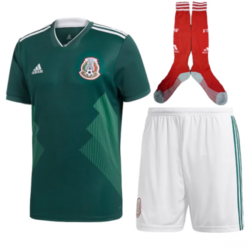 huge selection of 50ee5 3027f 2018 Mexico Home Soccer Jersey Whole Kit(Shirt+Short+Socks ...
