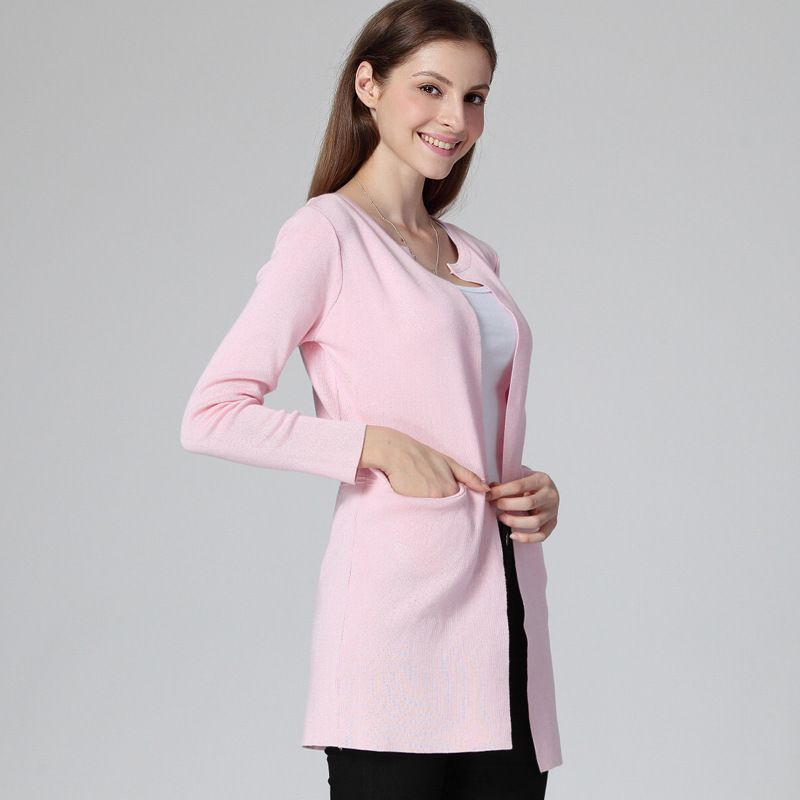 2015 spring autumn cardigan coat women slim long sleeve Casual ...
