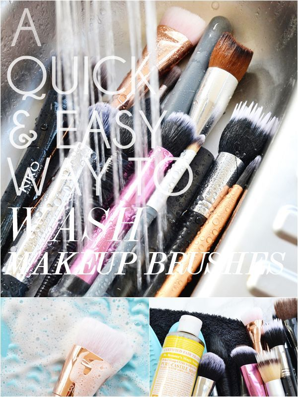 A Quick & Easy Way to Wash Makeup Brushes! How to wash