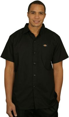 Polished to look great in or out of a kitchen setting. Also available in white and white with black from Dickies.