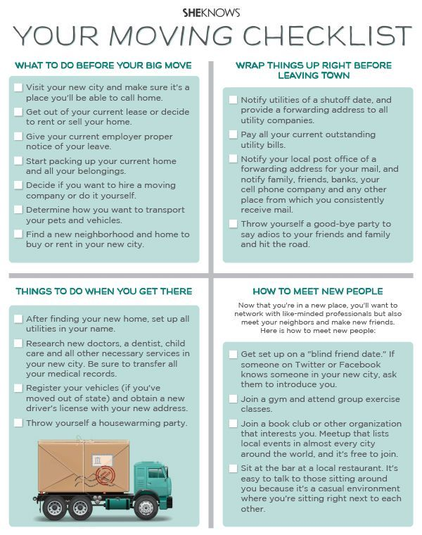 Your moving checklist house for Moving into a new house checklist