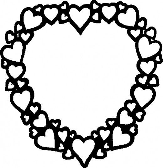 100 Pictures Of Hearts Valentines Day Coloring Page Heart