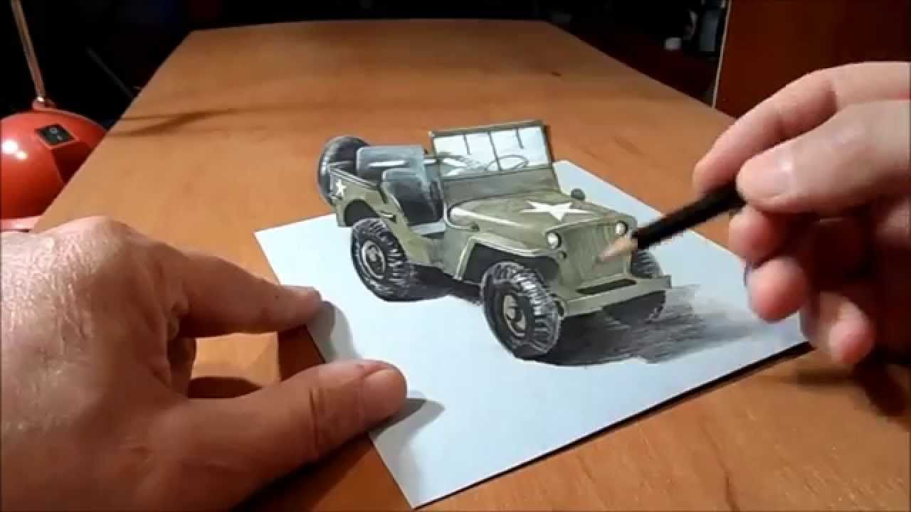 Dibujo 3d Jeep Willys Mb Willys Jeep Willys Mb Willys