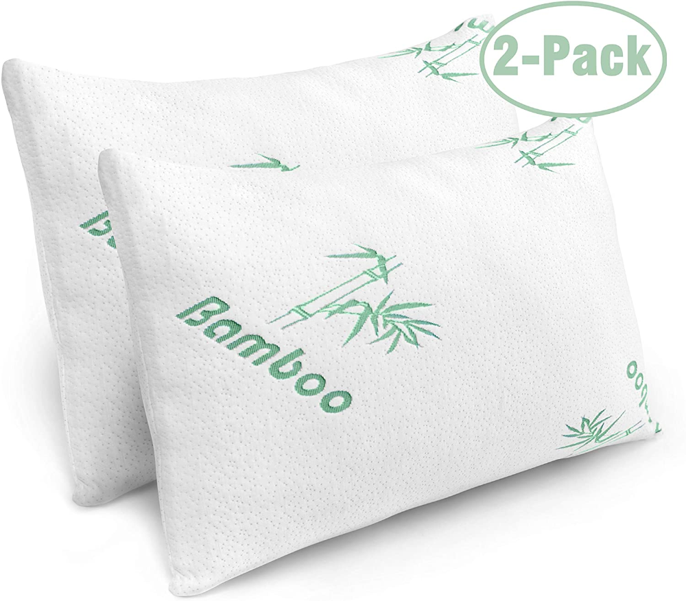 Shredded Memory Foam Pillow with Bamboo