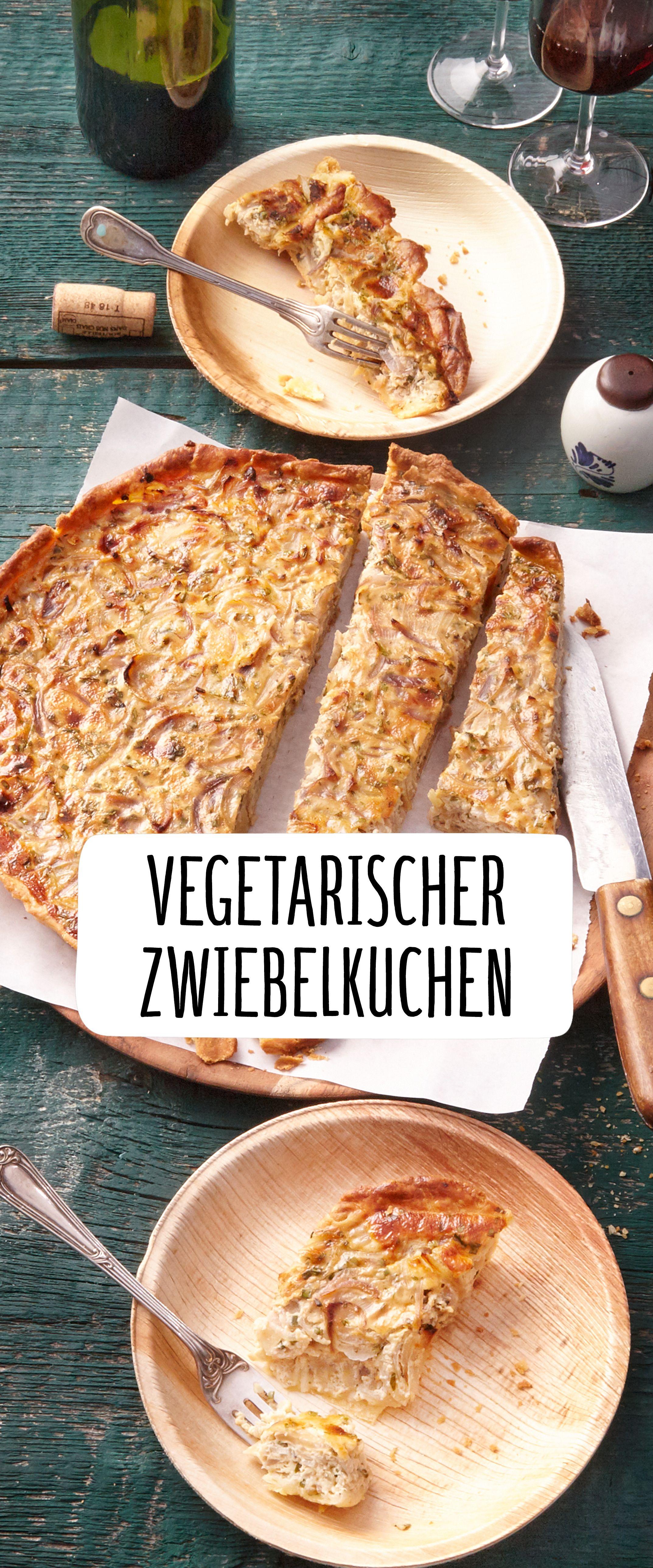 Vegetarischer Zwiebelkuchen Rezept Backen Pinterest