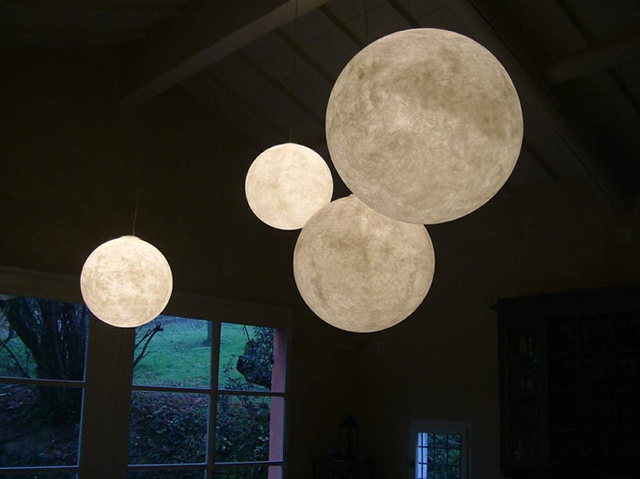 Lovely Inspired by aerospace and galactic stuff Design Ocilunam has designed giant pendant moon light with name Luna globe pendant light this giant globe pendant