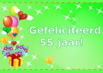 Betere Gefeliciteerd 55 jaar! (met afbeeldingen) | Verjaardag, Gefeliciteerd VS-09
