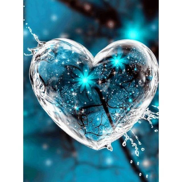 5D Diamond Mosaic Kits - Heart Bubble / 8 inch x 12 inch