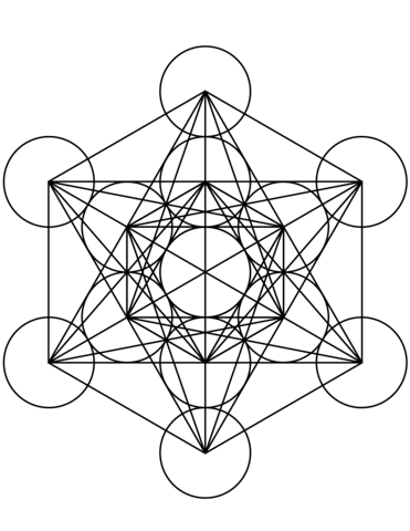 Click To See Printable Version Of Metatrons Cube Mandala Coloring