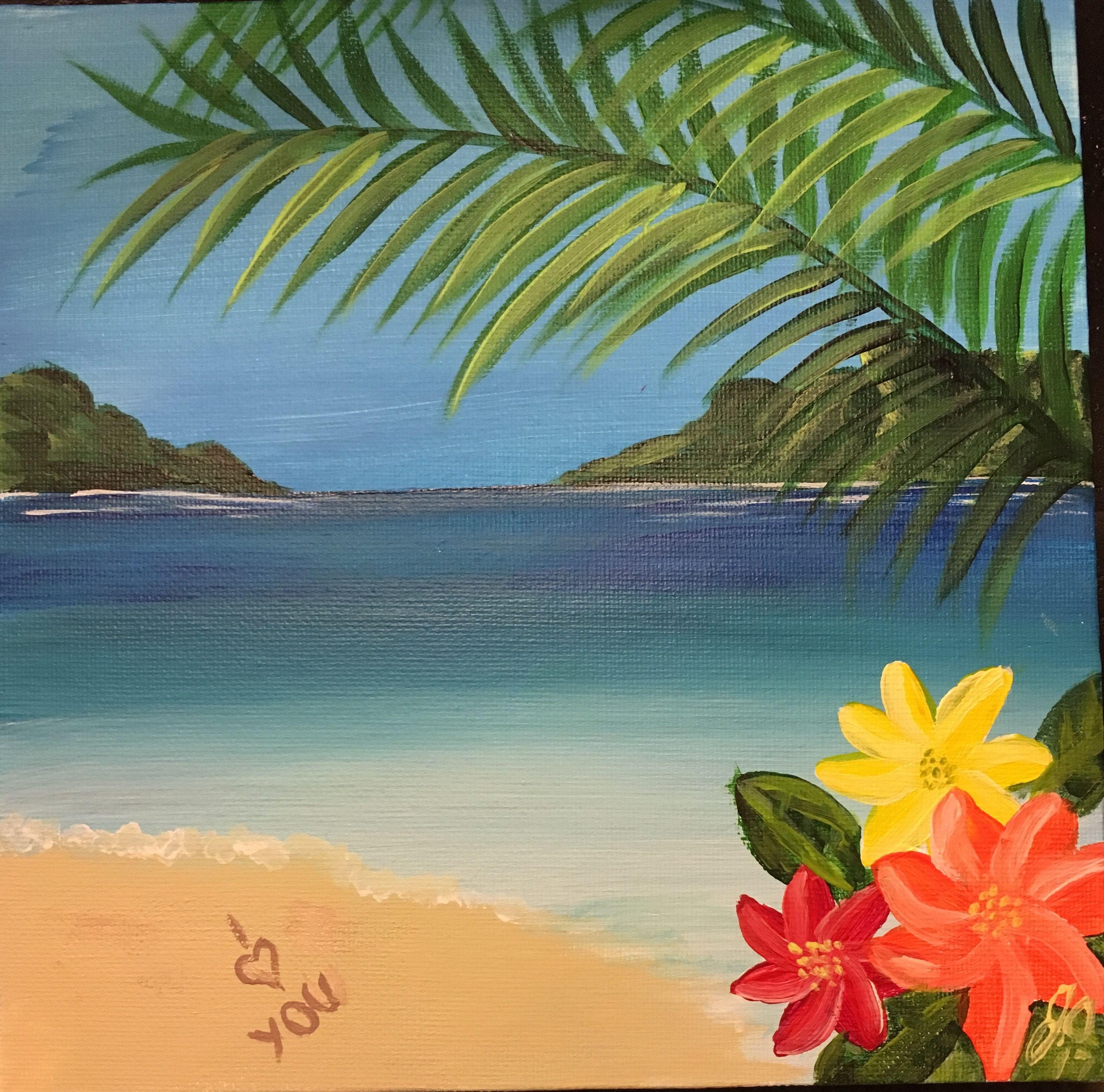 Гавайи картинки краска