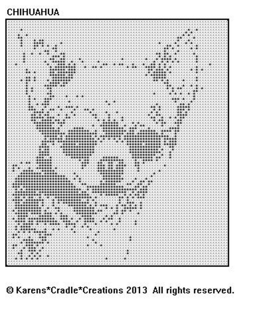 CHIHUAHUA Filet Crochet Pattern | Punto de cruz, Filete y Ganchillo