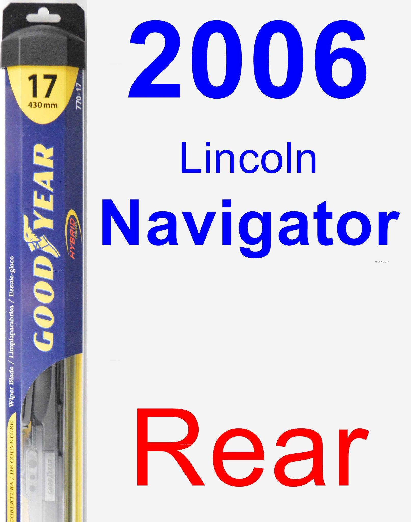 Rear Wiper Blade For 2006 Lincoln Navigator Hybrid Buick Roadmaster Chrysler Concorde Pontiac Montana