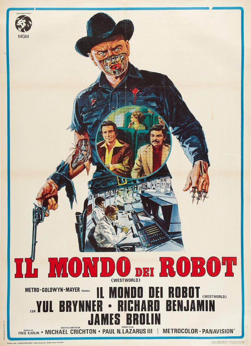 Humanoid History On Italian Movie Posters Westworld Movie Posters