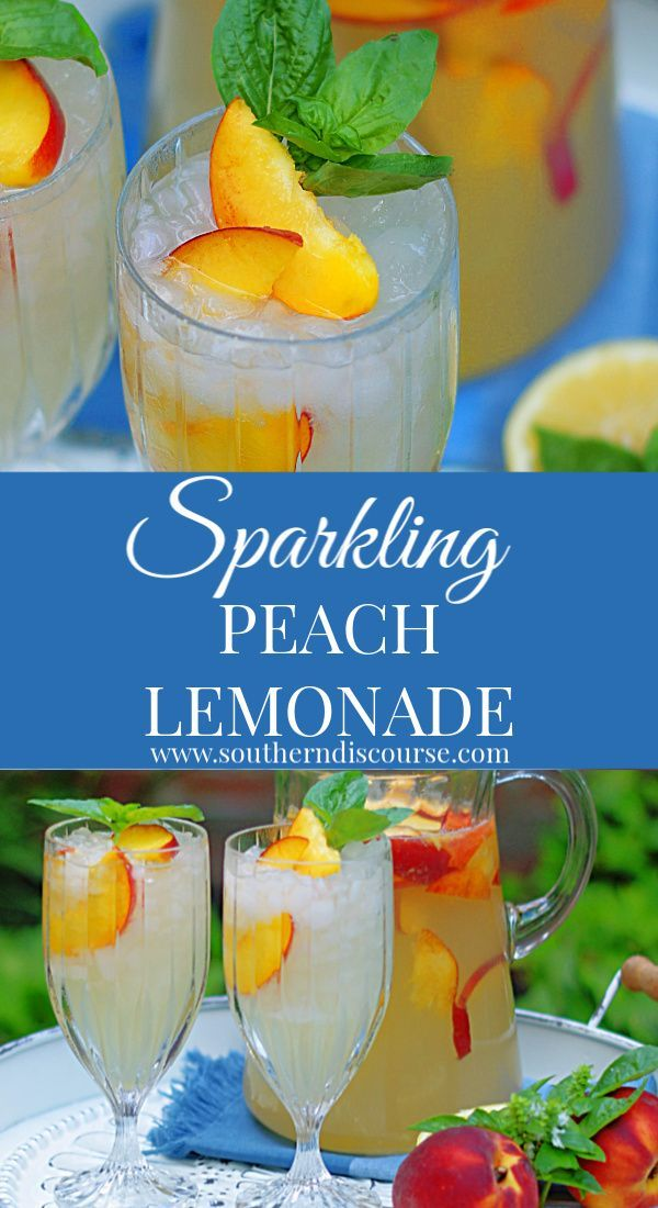 Sparkling Peach Lemonade #summersouthernfood