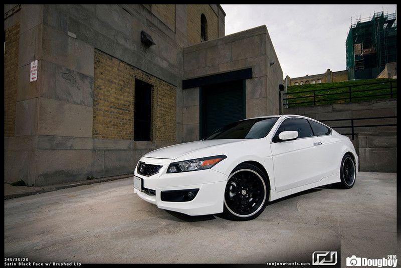 Black and White Honda Accord Coupe