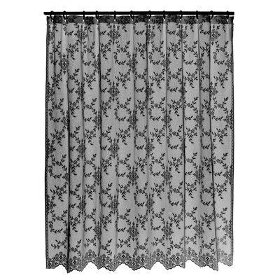 Heritage Lace Downton Abbey Yorkshire Shower Curtain Color Black