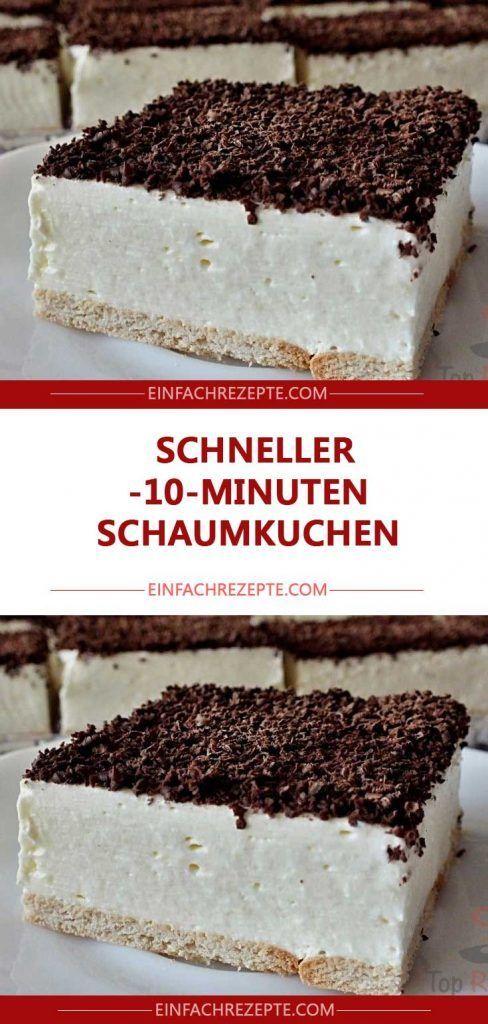 Schneller 10-Minuten-Schaumkuchen