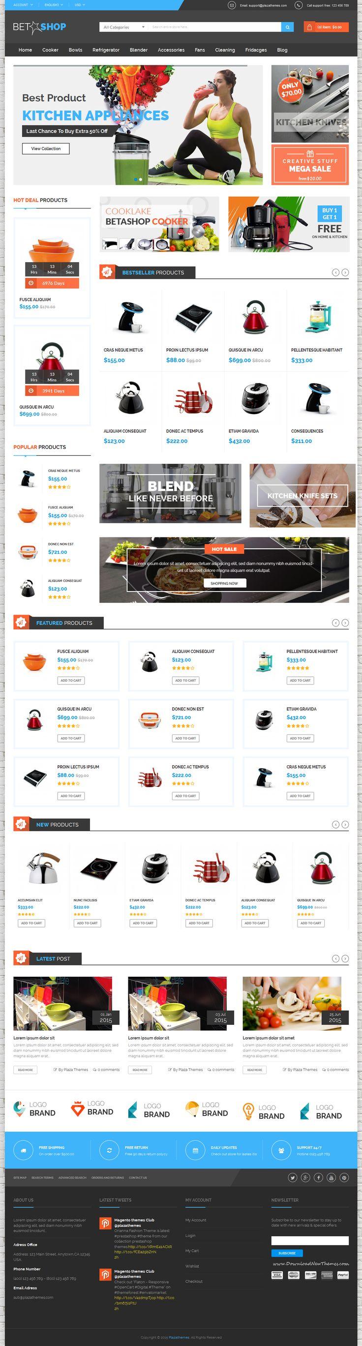 Best Responsive Multipurpose Kitchen Appliance Website Template ...