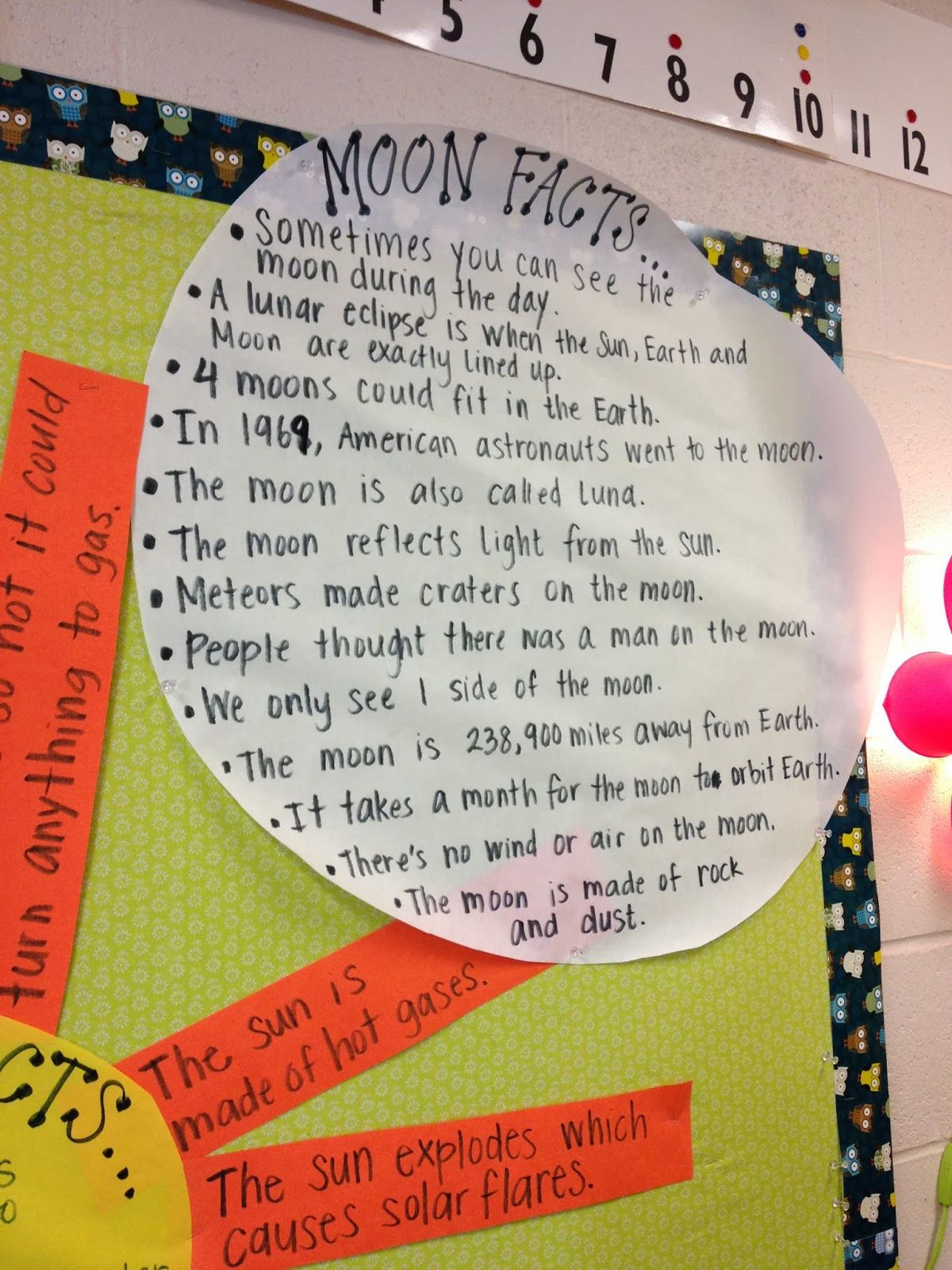 Moon Facts Anchor Chart