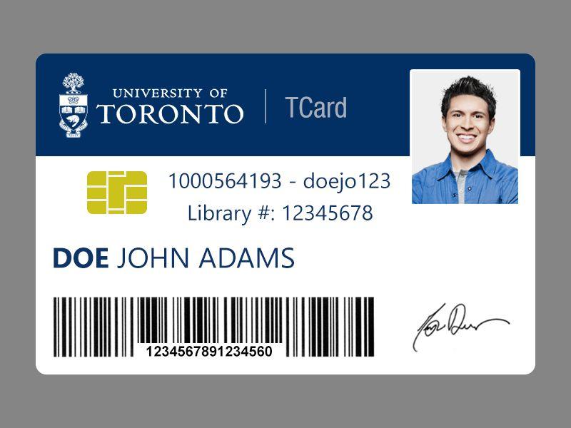 University of Toronto student card