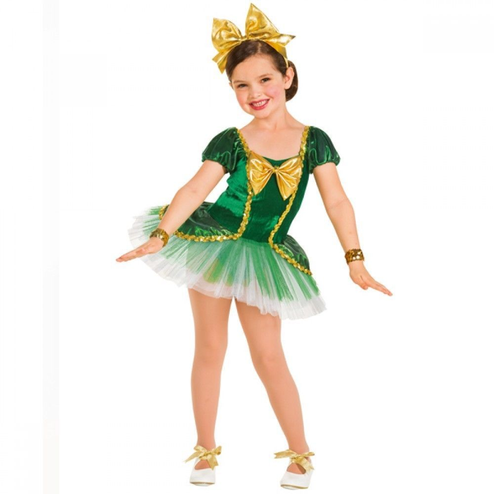 Green & Gold Bow Tutu - Dorothy Wizard Of Oz Ballet Dance Costume ...