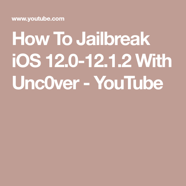 How To Jailbreak iOS 12 0-12 1 2 With Unc0ver - YouTube | Cydia