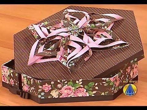 Aprenda a fazer uma belíssima caixa personalizada com origami em tecido! - YouTube