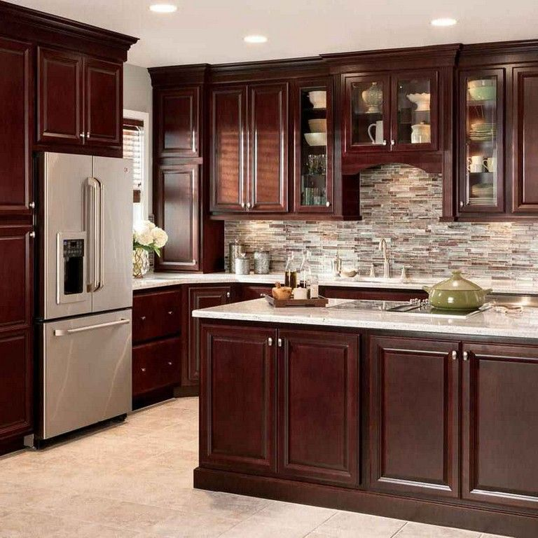 30 Admirable Cherry Wood Cabinets Kitchen Cherry Wood Kitchen Cabinets Luxury Kitchen Cabinets Kitchen Cabinet Design
