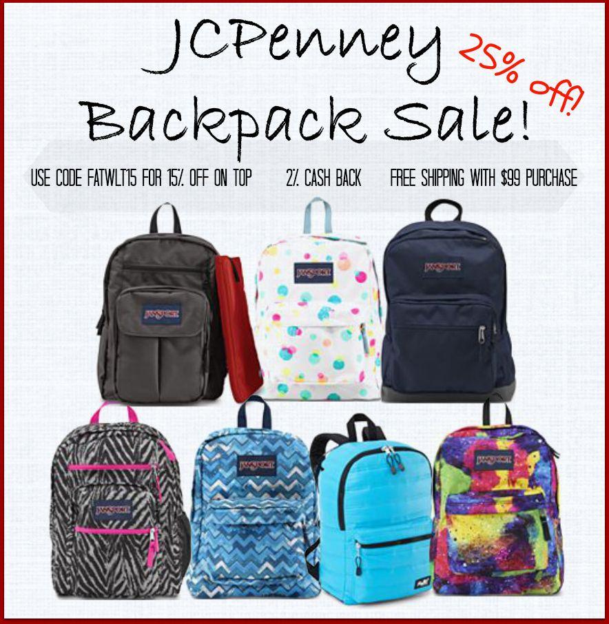#BacktoSchool #Backpacks On Sale! @ #JCPenneys