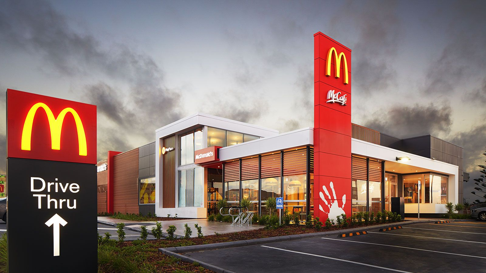 Front Elevation Designs For Showrooms : Mcdonalds playground australia fast food future