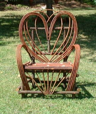 Captivating Californina Rustic Willow Hand Crafted Heart Willow Furniture