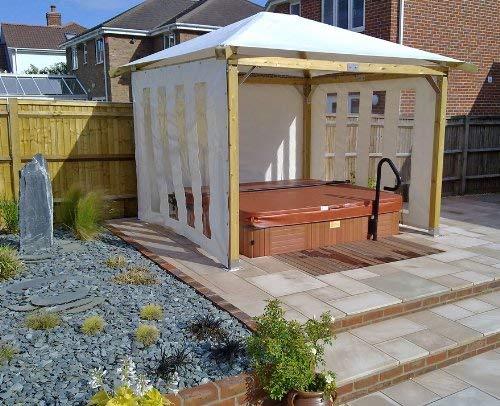 "White Pavilion Gazebos 3m x 3m (9'9"" x 9'9"") Hot Tub"